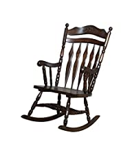 Coaster Rocking Chair with Carved Det…