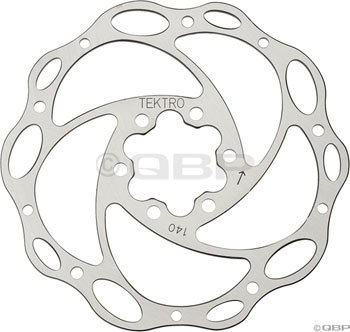 Buy Low Price Tektro Lyra 140mm Lyra Cross Rotor w/ Bolts. (140mm Light-Wave rotor)