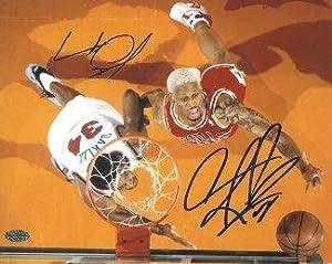 Dennis Rodman signed Chicago Bulls 8X10 Photo w  Charles Oakley - Autographed NBA... by Sports Memorabilia
