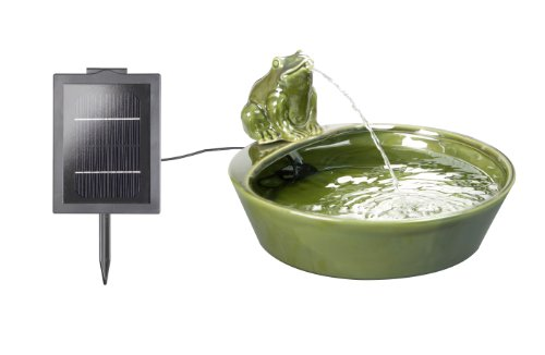 Ceramic Frog Solar Water Feature