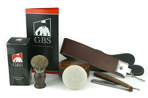 5-Piece-Shaving-Set-Soap-Wood-Bowl-Wood-Straight-Razor-and-Wood-Badger-Brush