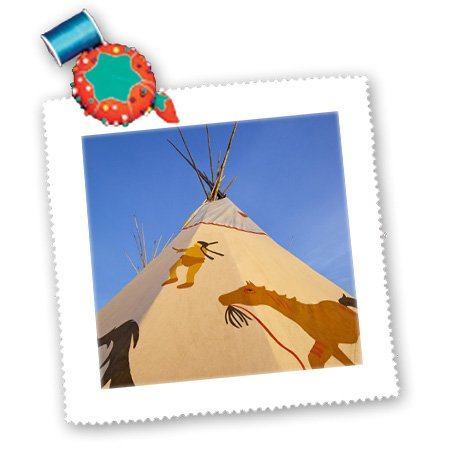 Qs_91928_1 Danita Delimont - Native American - Native American Teepee, Browning, Montana - Us27 Cha2006 - Chuck Haney - Quilt Squares - 10X10 Inch Quilt Square front-76208