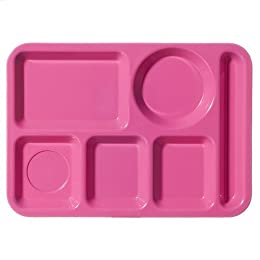 Product Image Melamine Pink Cafeteria Tray S/4
