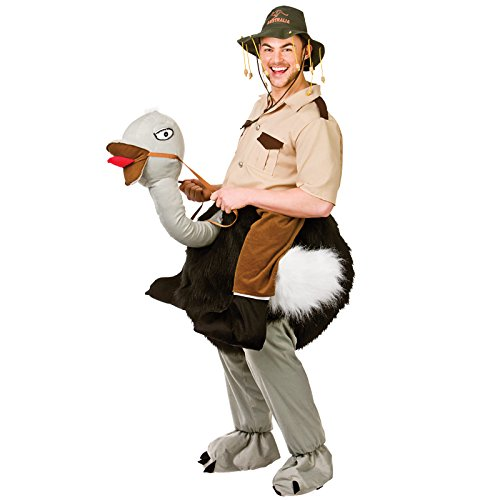 Giant Ride-On Ostrich Costume Adult Animal Stag Fancy Dress