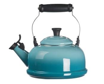 Enamel on The Steel Whistling 1-4/5 Quarts Tea Kettle