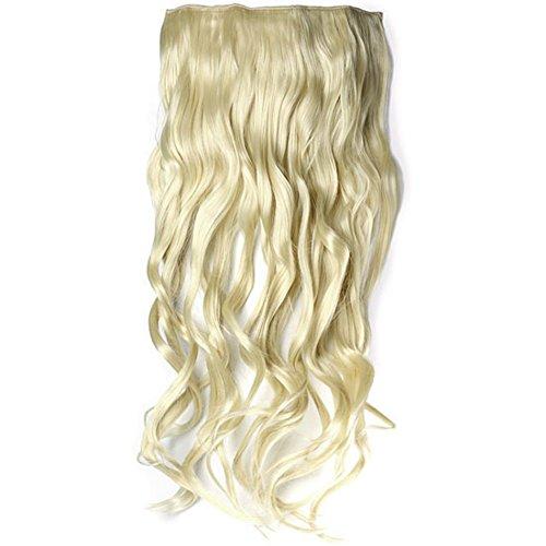 Ayliss - Perruque Longues Ondulee Extension de Cheveux Epaississants Chaleur Postiche Boucle Fixation Resistant Longueur 20\\