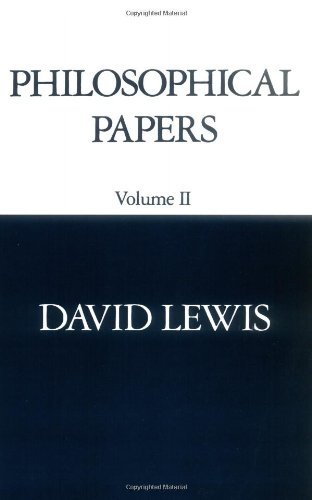David K. Lewis, Philosophical Papers, Vol. 2