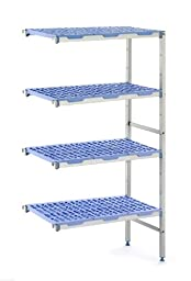 Tournus PCH0951 Commercial Anodized Aluminum Add-on Shelving Unit for Linear or Corner Extension, 22\