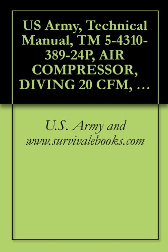 U.S. Army and www.survivalebooks.com - US Army, Technical Manual, TM 5-4310-389-24P, AIR COMPRESSOR, DIVING 20 CFM, MOD K-20, 5,000 PSI, (NSN 4310-01-291-8028), military manauals, special forces (English Edition)