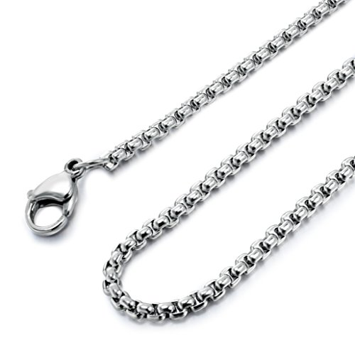 besteel-womens-mens-stainless-steel-rolo-cable-wheat-chain-link-necklace-16-36-inch-18-inches