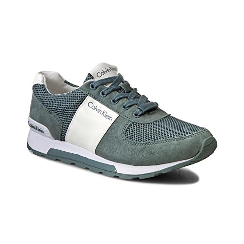 Calvin Klein J Dusty SE8521 Verde Grigio Sneakers Uomo Scarpa Sportiva, Grigio, 42