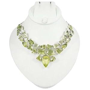 925 argent sterling Bijoux Lemon Topaz Gemstone Collier Parti Porter Bijoux de mode cadeau