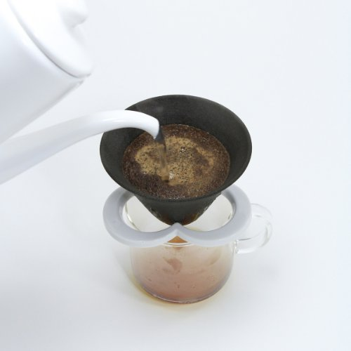 Coffe hat(カフェハット) ホワイト日本製 【五八プロダクツ】 紙フィルター不要 セラミックコーヒーフィルター