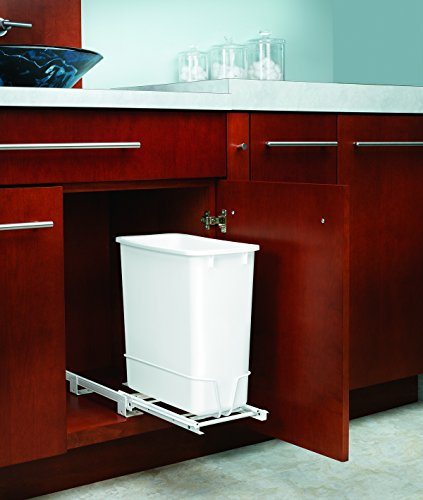 Rev-A-Shelf 20Qt Pull-Out Waste Bin White
