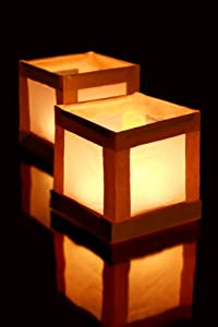 10 Floating Water Lanterns with 10 Tea Lights from Pams