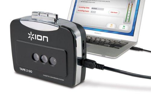 ION Audio Tape 2 Go |  Baladeur cassette et convertisseur au format MP3 avec logiciel Mac et PC fourni