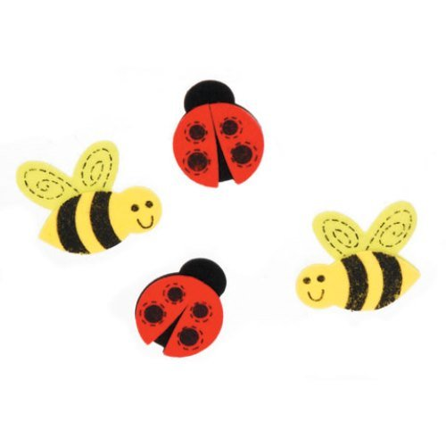 WeGlow International Felt Sticker Bugs and Bees