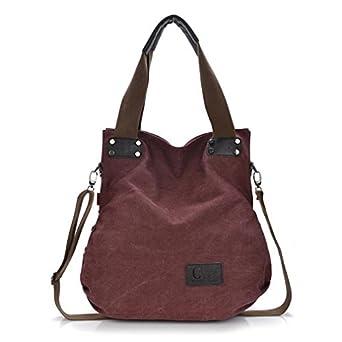 Amazon.com: Mjhong Women's Canvas Casual Bag Messenger ...
