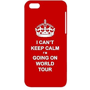 Skin4gadgets I CAN'T KEEP CALM I'm GOING ON WORLD TOUR - Colour - Red Phone Designer CASE for APPLE IPHONE 6 PLUS