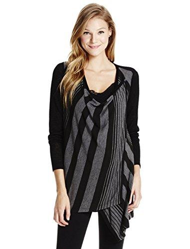 Jessica Simpson Long Sleeve W/modesty Panel Striped Nursing Cardigan