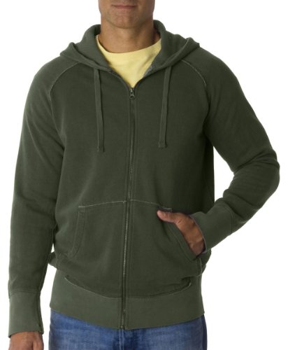 Chouinard Adult Heavyweight Frayed Full Zip Hooded Sweatshirt, Hemp, XX-Large