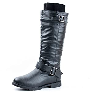 West Blvd Womens Osaka Knee High Motorcycle Riding Boots