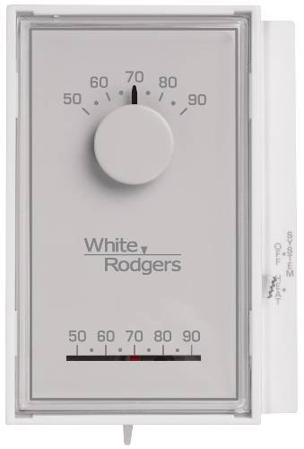 White Rodgers 1E50N-301 Single Stage Mechanical Thermostat w/ Temperature Locking Kit, Mercury Free (Heat Only)