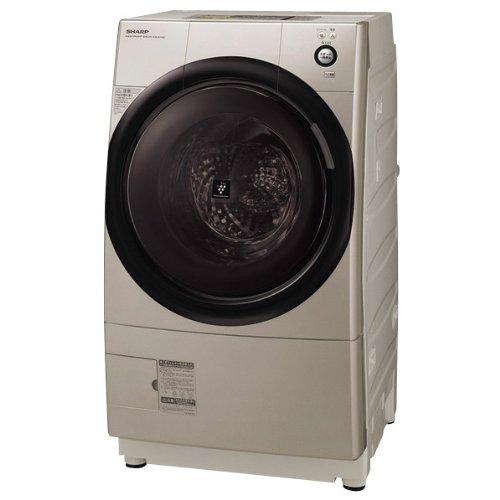 シャープ 【ヒートポンプ乾燥機能付き】【左開き】 ドラム式洗濯乾燥機 (洗濯9.0kg/乾燥6.0kg) ES-Z100-NL ゴールド系