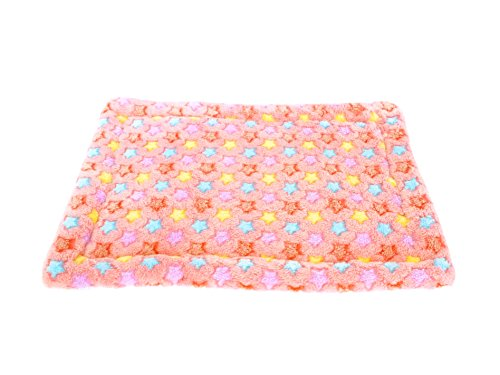 Mora Pets Ultra Soft Reversible Pet Crate Mat / Bed Liner, 18 x 13 In for Cats, Puppy and Small Dogs, XS (Pink)