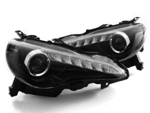 Scion Frs Frs Jdm Style Led Drl Bi-Xenon Hid Projector Headlights Black 2013