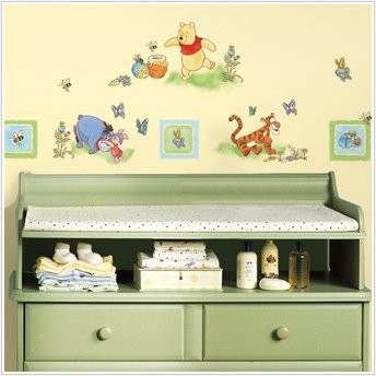 Magnificent Peel & Stick By Roommates Winnie The Pooh - Toddler Wall Decals front-1004928