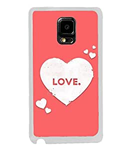 Love Hearts 2D Hard Polycarbonate Designer Back Case Cover for Samsung Galaxy Note Edge :: Samsung Galaxy Note Edge N915FY N915A N915T N915K/N915L/N915S N915G N915D