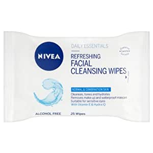 NIVEA Visage Refreshing Facial Cleansing Wipes - 25 pcs