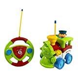 Cartoon R/C Train Car Radio Control Toy For Toddlers (Assorted Colors)