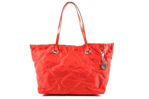 Moncler borsa donna a spalla shopping nylon nuova adelaide arancio
