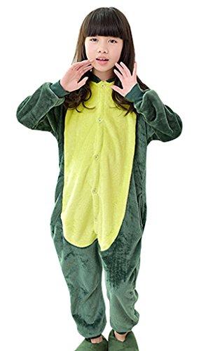 GILLBRO unisex-kid Natale pigiama Costume Cosplay, Dinosauro verde B 115 cm