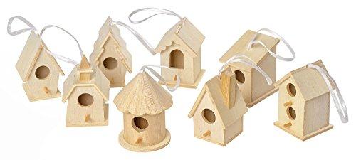 8-Deko-Vogelhuser-zum-Aufhngen-Holz-Vogelhaus-Basteln-Dekorieren-von-VBS