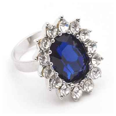 Faux Sapphire Royal Engagment Ring