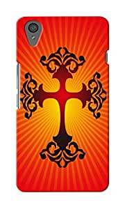 CimaCase Cross Designer 3D Printed Case Cover For OnePlus X