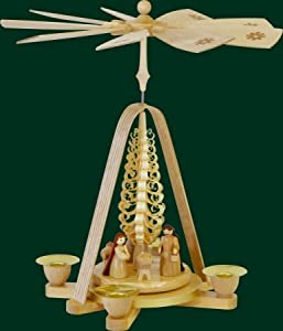 German Christmas Pyramid w/ Nativity by PINNACLE PEAK