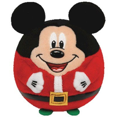 Ty Beanie Ballz Mickey - Mouse Christmas