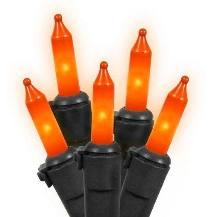 100-Mini-IndoorOutdoor-Orange-String-Lights-Black-Wire-20-ft-7-in-Lighted-Length