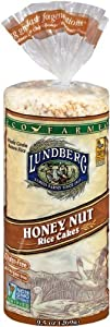 Lundberg Eco-Farmed Honey Nut Rice Cake, 9.5-Ounce Units  (Pack of 12)
