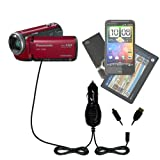 Panasonic HDC-TM80 Camcorder Gomadic Multi Port Mini DC Auto / Vehicle Charger - One Charger with connections for two devices using upgradeable TipExchange