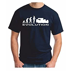 Mens F1 Evolution TShirt - Navy Formula One