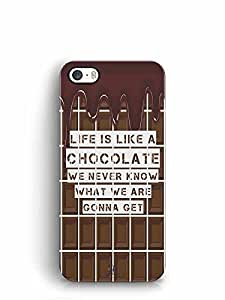 YuBingo Life is Like a Chocolate, We Never Know What We Gonna Get Designer Mobile Case Back Cover for Apple iPhone SE