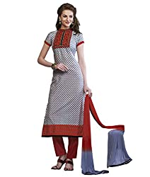 Admyrin Women Grey Cambric Cotton Dress Material