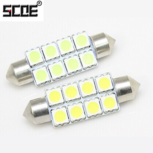 Scoe 42Mm C5W Dc12V 8Smd 5050Led Pack Of 1- Purple