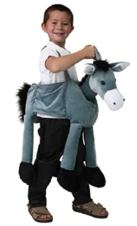Plush Ride-On Donkey Farm Animal Nativity Dressup Costume Play