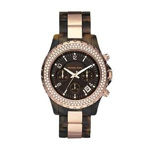 Michael Kors Women's MK5416 Madison Chronograph Tortoise and Rose Gold Watch